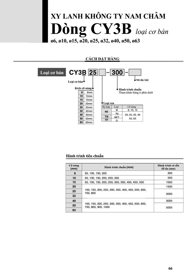 xylanh khong ty nam cham dong cy3b