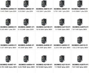Bien tan Omron 3G3MX2 Series